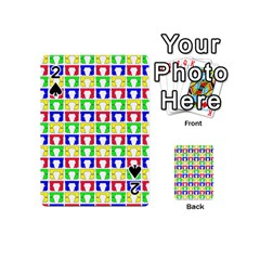 Colorful Curtains Seamless Pattern Playing Cards 54 (mini)