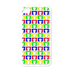 Colorful Curtains Seamless Pattern Apple Iphone 4 Case (white)