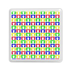 Colorful Curtains Seamless Pattern Memory Card Reader (square)