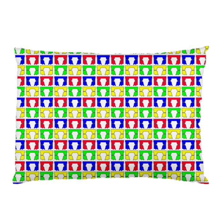 Colorful Curtains Seamless Pattern Pillow Case (Two Sides)