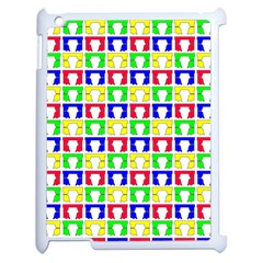Colorful Curtains Seamless Pattern Apple Ipad 2 Case (white)