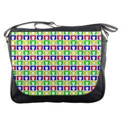 Colorful Curtains Seamless Pattern Messenger Bags