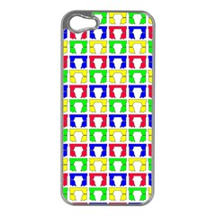 Colorful Curtains Seamless Pattern Apple Iphone 5 Case (silver)
