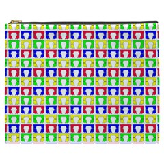 Colorful Curtains Seamless Pattern Cosmetic Bag (xxxl)