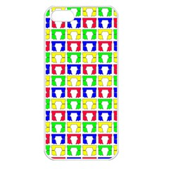 Colorful Curtains Seamless Pattern Apple Iphone 5 Seamless Case (white)