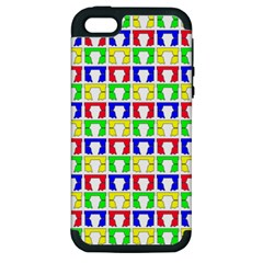 Colorful Curtains Seamless Pattern Apple Iphone 5 Hardshell Case (pc+silicone)