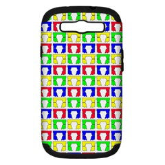 Colorful Curtains Seamless Pattern Samsung Galaxy S Iii Hardshell Case (pc+silicone)