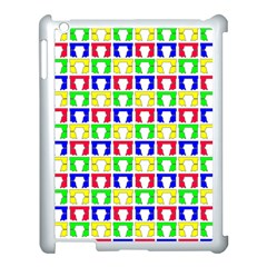 Colorful Curtains Seamless Pattern Apple Ipad 3/4 Case (white)