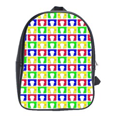 Colorful Curtains Seamless Pattern School Bags (xl)