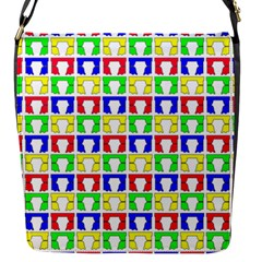 Colorful Curtains Seamless Pattern Flap Messenger Bag (s)
