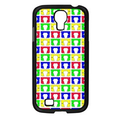 Colorful Curtains Seamless Pattern Samsung Galaxy S4 I9500/ I9505 Case (black)