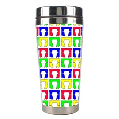 Colorful Curtains Seamless Pattern Stainless Steel Travel Tumblers