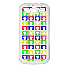 Colorful Curtains Seamless Pattern Samsung Galaxy S3 Back Case (white)
