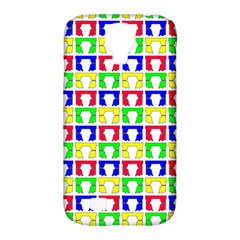 Colorful Curtains Seamless Pattern Samsung Galaxy S4 Classic Hardshell Case (pc+silicone)
