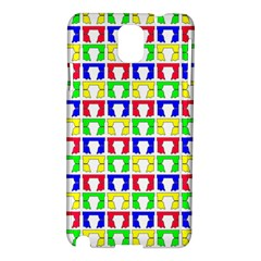 Colorful Curtains Seamless Pattern Samsung Galaxy Note 3 N9005 Hardshell Case