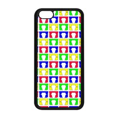 Colorful Curtains Seamless Pattern Apple Iphone 5c Seamless Case (black)