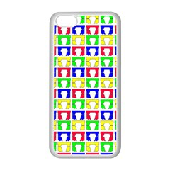 Colorful Curtains Seamless Pattern Apple Iphone 5c Seamless Case (white)