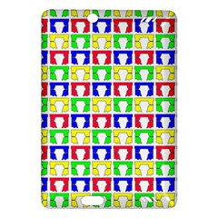 Colorful Curtains Seamless Pattern Amazon Kindle Fire Hd (2013) Hardshell Case