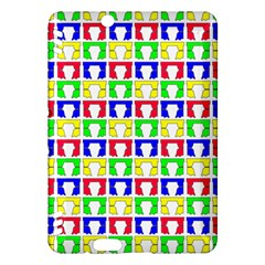 Colorful Curtains Seamless Pattern Kindle Fire Hdx Hardshell Case