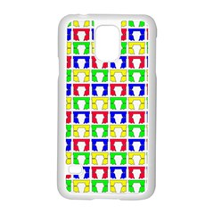 Colorful Curtains Seamless Pattern Samsung Galaxy S5 Case (white)