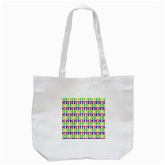 Colorful Curtains Seamless Pattern Tote Bag (white)