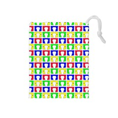 Colorful Curtains Seamless Pattern Drawstring Pouches (medium)