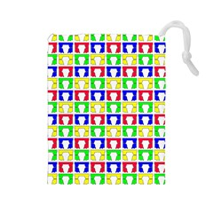 Colorful Curtains Seamless Pattern Drawstring Pouches (large)
