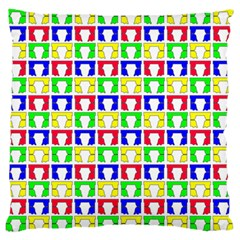 Colorful Curtains Seamless Pattern Large Flano Cushion Case (two Sides)