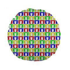 Colorful Curtains Seamless Pattern Standard 15  Premium Flano Round Cushions