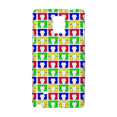 Colorful Curtains Seamless Pattern Samsung Galaxy Note 4 Hardshell Case