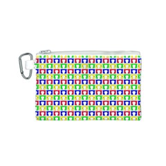Colorful Curtains Seamless Pattern Canvas Cosmetic Bag (s)