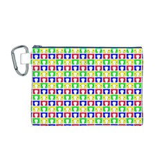 Colorful Curtains Seamless Pattern Canvas Cosmetic Bag (m)