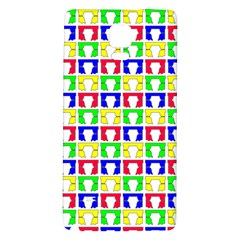 Colorful Curtains Seamless Pattern Galaxy Note 4 Back Case