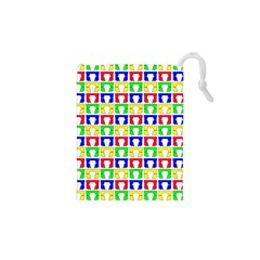 Colorful Curtains Seamless Pattern Drawstring Pouches (xs)