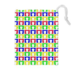 Colorful Curtains Seamless Pattern Drawstring Pouches (extra Large)
