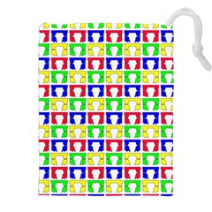 Colorful Curtains Seamless Pattern Drawstring Pouches (xxl)