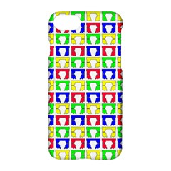 Colorful Curtains Seamless Pattern Apple Iphone 7 Hardshell Case