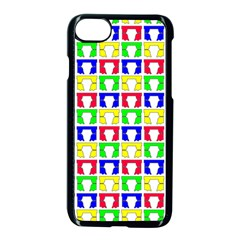 Colorful Curtains Seamless Pattern Apple Iphone 7 Seamless Case (black)