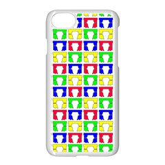 Colorful Curtains Seamless Pattern Apple Iphone 7 Seamless Case (white)