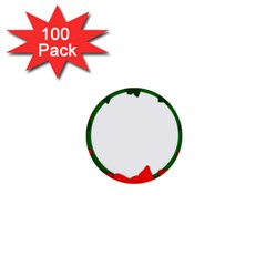 Holiday Wreath 1  Mini Buttons (100 Pack)