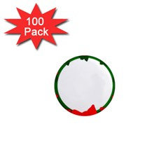 Holiday Wreath 1  Mini Magnets (100 Pack)