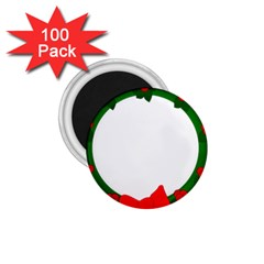Holiday Wreath 1 75  Magnets (100 Pack)