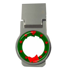 Holiday Wreath Money Clips (Round)