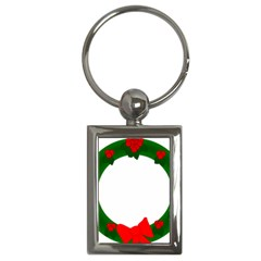 Holiday Wreath Key Chains (rectangle)