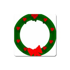 Holiday Wreath Square Magnet