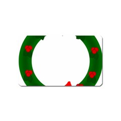 Holiday Wreath Magnet (Name Card)