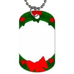 Holiday Wreath Dog Tag (One Side)