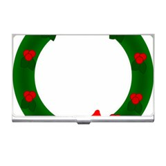 Holiday Wreath Business Card Holders