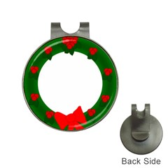 Holiday Wreath Hat Clips With Golf Markers