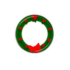 Holiday Wreath Hat Clip Ball Marker (4 Pack)